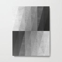 Geometric and minimalist marble VIII Metal Print
