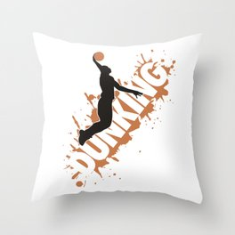 Dunking Throw Pillow