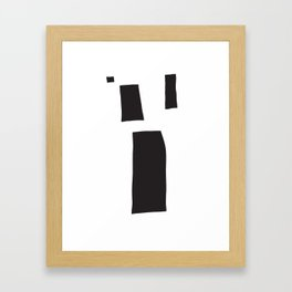 Black Blocks Framed Art Print