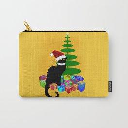 Christmas Le Chat Noir With Santa Hat Tasche