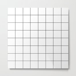 WINDOWPANE ((black on white)) Metal Print