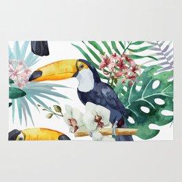 Tropical Bird Pattern 04 Rug