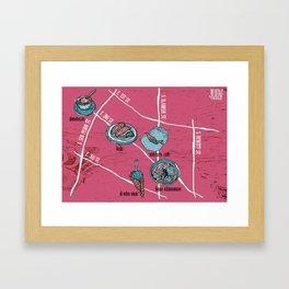 Little Tokyo Map 1 Framed Art Print