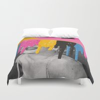 celebrity Duvet Covers featuring Celebrity Syrup by Eugenia Loli