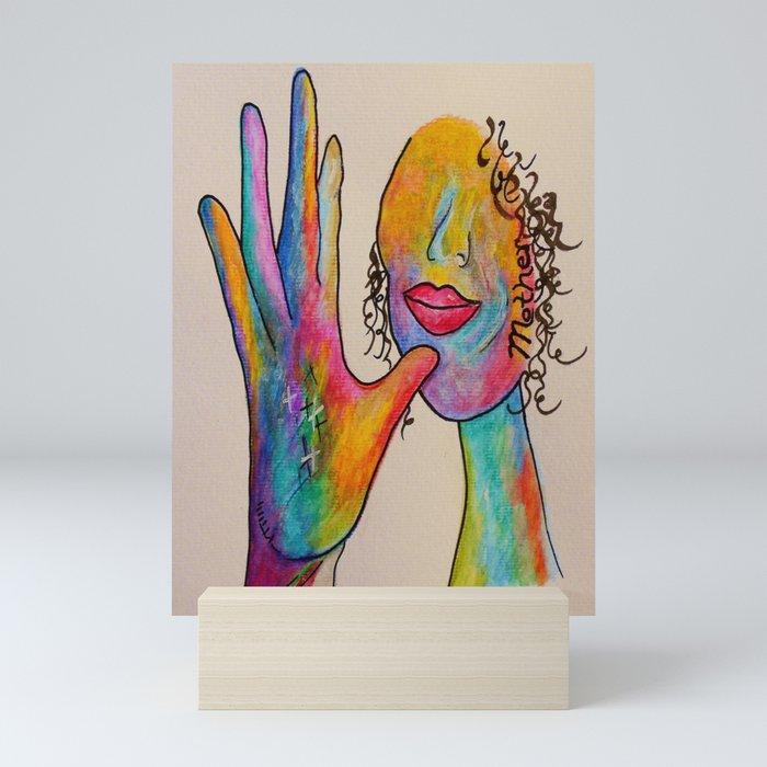American Sign Language MOTHER Mini Art Print