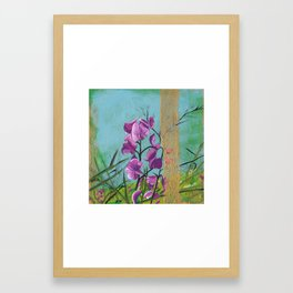 Space Between Present and Future Framed Art Print