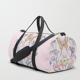 Chinese Moon Moth and Butterflies Duffle Bag