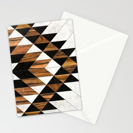 Urban Tribal Pattern 9 - Aztec - Concrete and Wood Stationery Cards