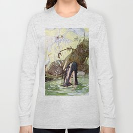 """The Marsh King's Daughter"" Fairy Art by Anne Anderson Long Sleeve T-shirt"