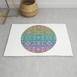 lovely lumps - rainbow abstract pattern Rug