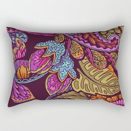 Paisley Dreams - sunset colors Rectangular Pillow