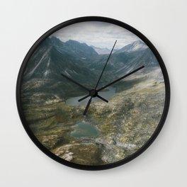 Mackenzie Mountains Wall Clock