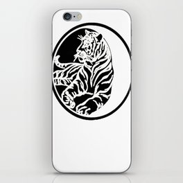Tiger Tattoo - Black iPhone Skin