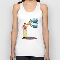 whales Tank Tops featuring whales by Miz2017