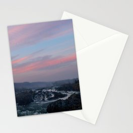 great falls sunset Stationery Cards