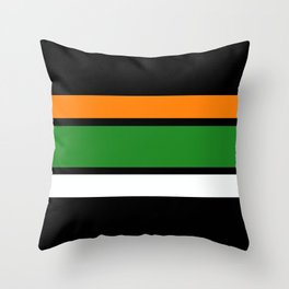 Team Colors 2,,,,orange,green Throw Pillow
