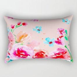 Blush pink - peony roses Rectangular Pillow