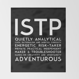 ISTP (black version) Throw Blanket