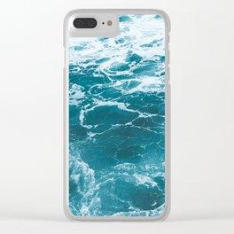 Tropic Beach Ocean Waves Clear iPhone Case