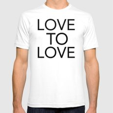 LOVE TO LOVE Mens Fitted Tee White SMALL
