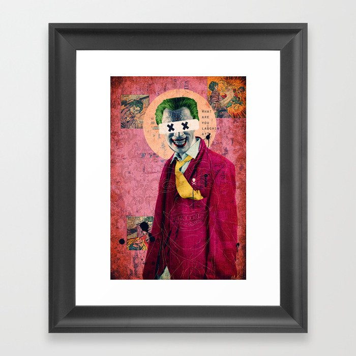 What Are You Laughin' At? Framed Art Print