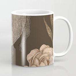 The Opossum and Peonies Coffee Mug