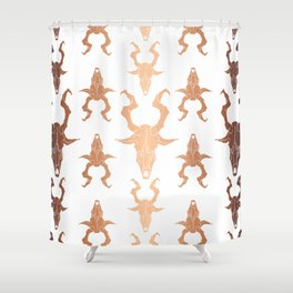 "Goat Skull Design- Copper - Mr.Phillip "" The Witch"" / Chilling Adventures of Sabrina Shower Curtain"