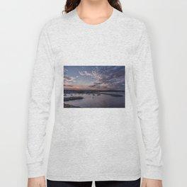 Sunset over Rockport Harbor Long Sleeve T-shirt