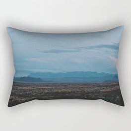 Texas Mountain Range at Dusk Rectangular Pillow