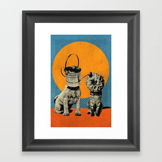 Cats&Dogs Framed Art Print