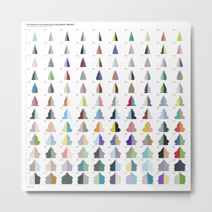 U.S. Population Pyramids Metal Print