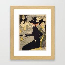 """Henri de Toulouse-Lautrec """"Divan Japonais"""" Framed Art Print"""
