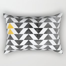 Triangle - Yellow II Rectangular Pillow
