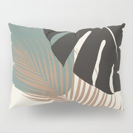 Minimal Monstera Palm Finesse #1 #tropical #decor #art #society6 Pillow Sham