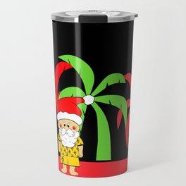 Tropical Christmas Travel Mug