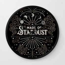 Made of Stardust – Black & Gold Palette Wall Clock