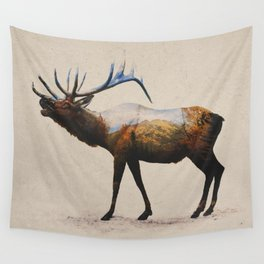 The Rocky Mountain Elk Wall Tapestry