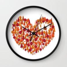 Wild at Heart Wall Clock