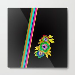 Bright Bold and Beautiful on Black Metal Print