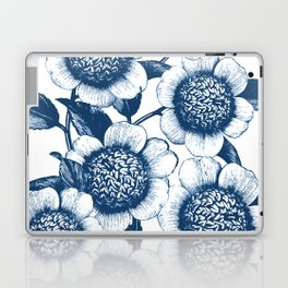 Blue Flowers Elegant Pattern Laptop & iPad Skin
