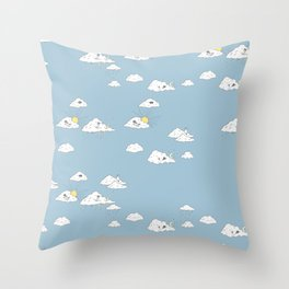 Dreaming about Super Raccoon Throw Pillow