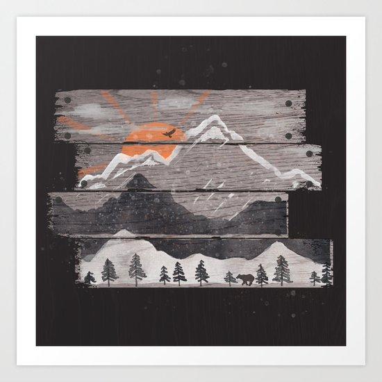 Into the Grey... Art Print