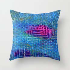 Heat in the pool Throw Pillow