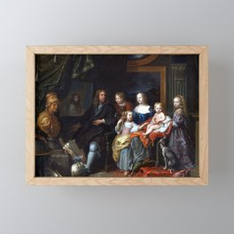 Charles Le Brun Everhard Jabach and His Family Framed Mini Art Print