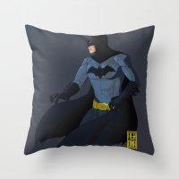 bats Throw Pillows featuring Bats by aer-dna