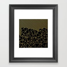 Ab Lines 45 Gold Framed Art Print