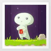 fez Art Prints featuring Fez by meisterMASH
