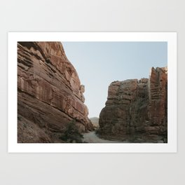 Desolate desert canyon Art Print