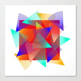 triangle ride Canvas Print