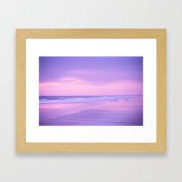 Sunrise Over Daytona Beach Framed Art Print